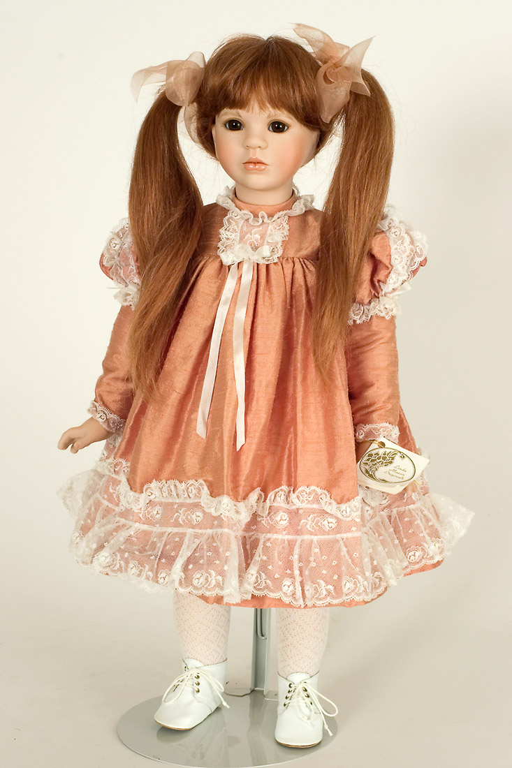 Tess - Porcelain soft body Art Doll by Linda Mason
