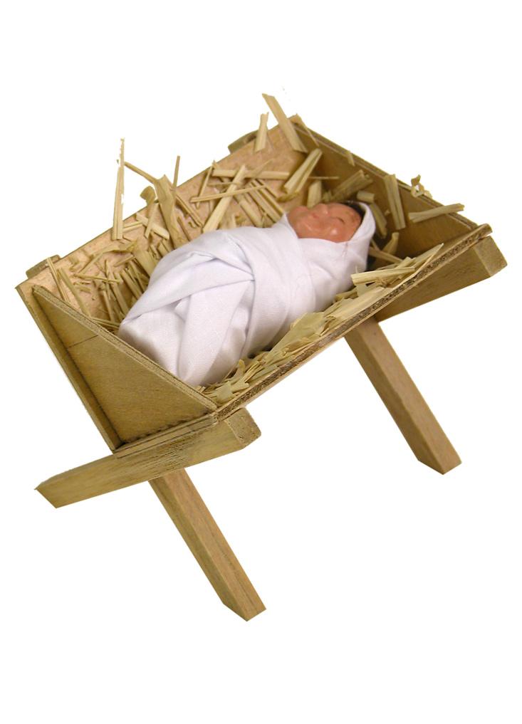 baby jesus in manger byers choice caroler figurine