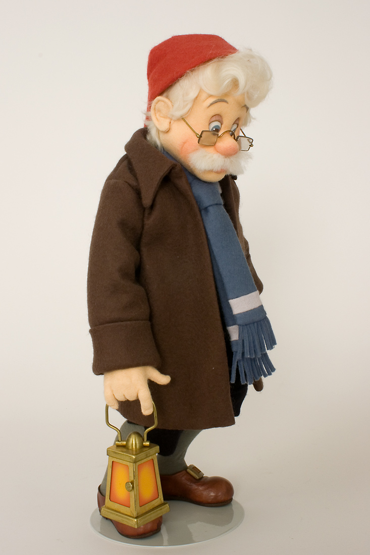 Geppetto Felt Molded Limited Edition Art Doll By R John
