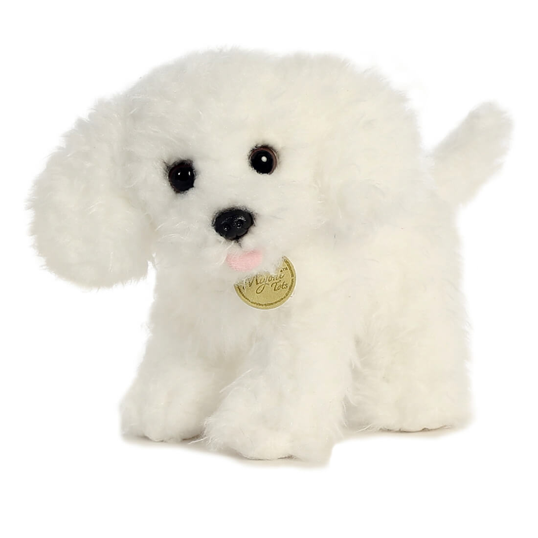 bichon frise plush animal toy by aurora