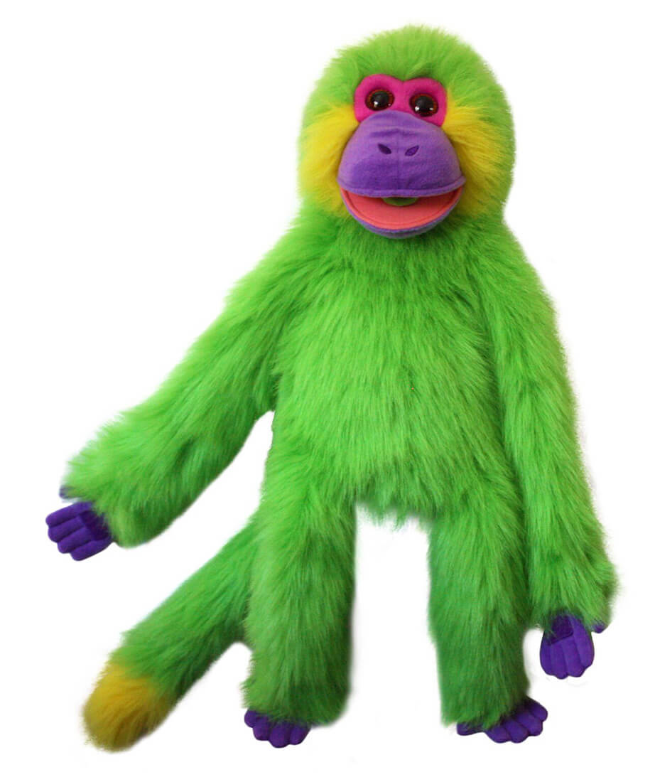 Colorful Monkey Puppet Green