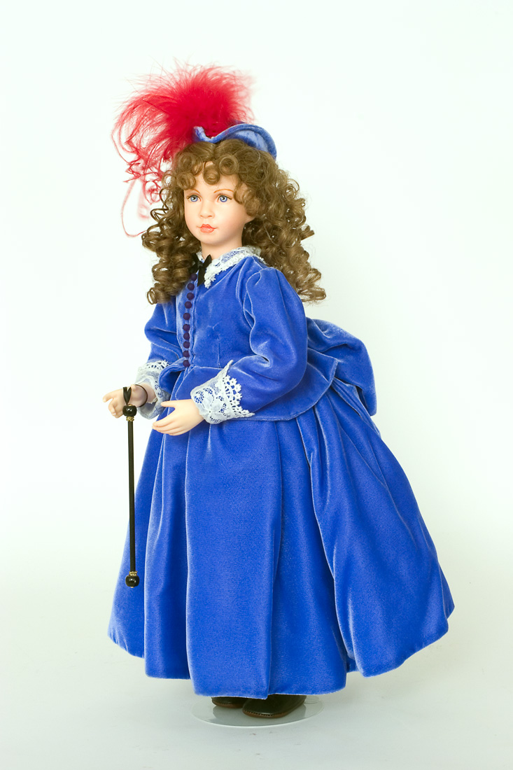 Bonnie Blue Wax Art Doll By Linda Mason