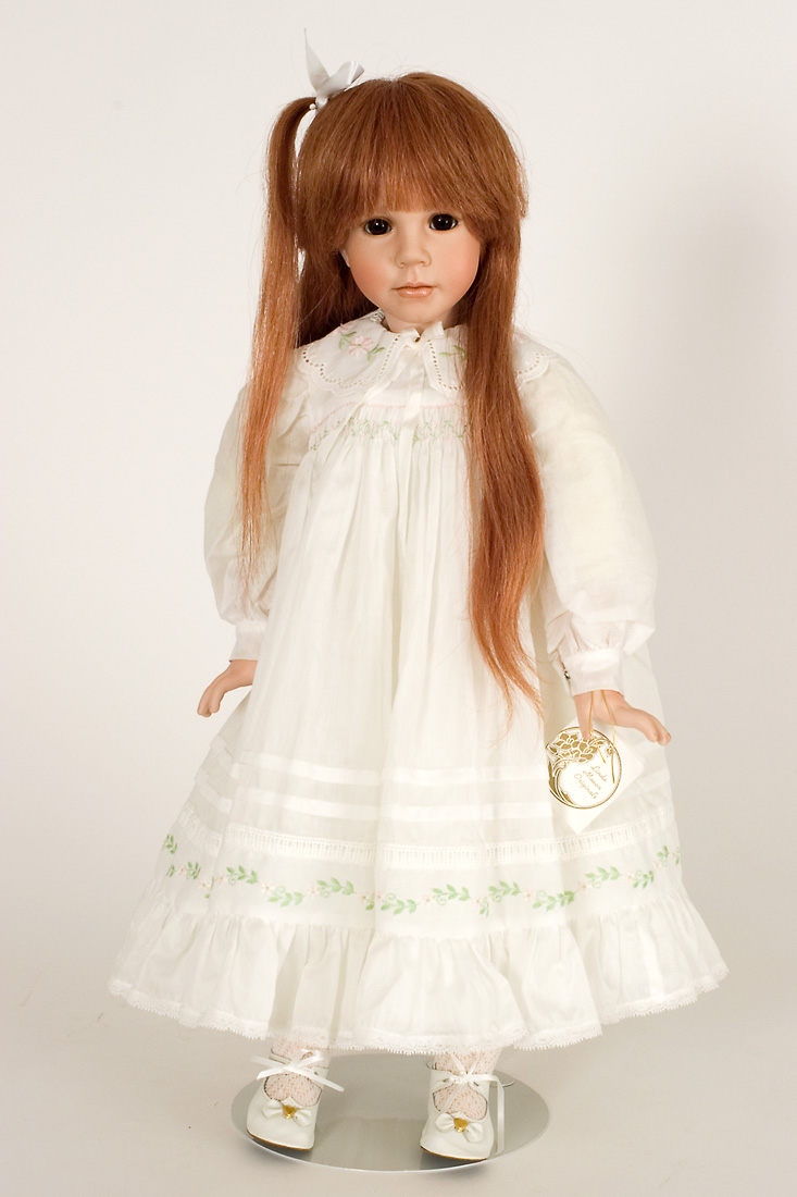 Danielle - Porcelain soft body Art Doll by Linda Mason
