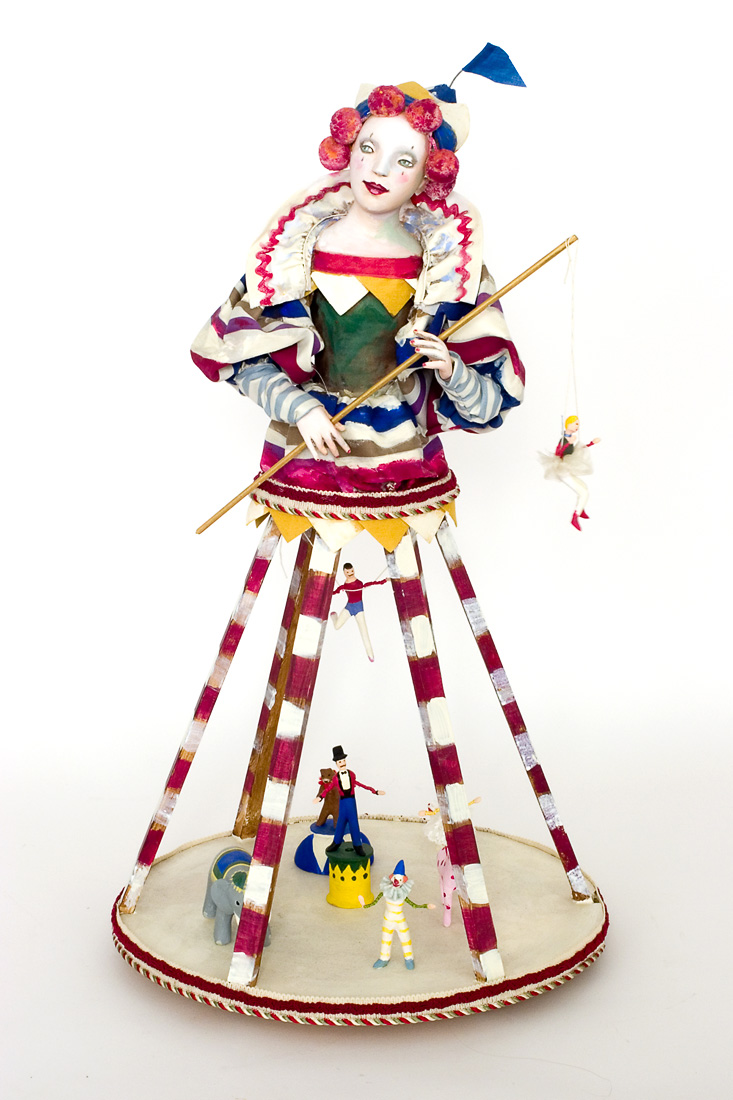 Circus Paperclay One Of A Kind Art Doll By Nancy Wiley