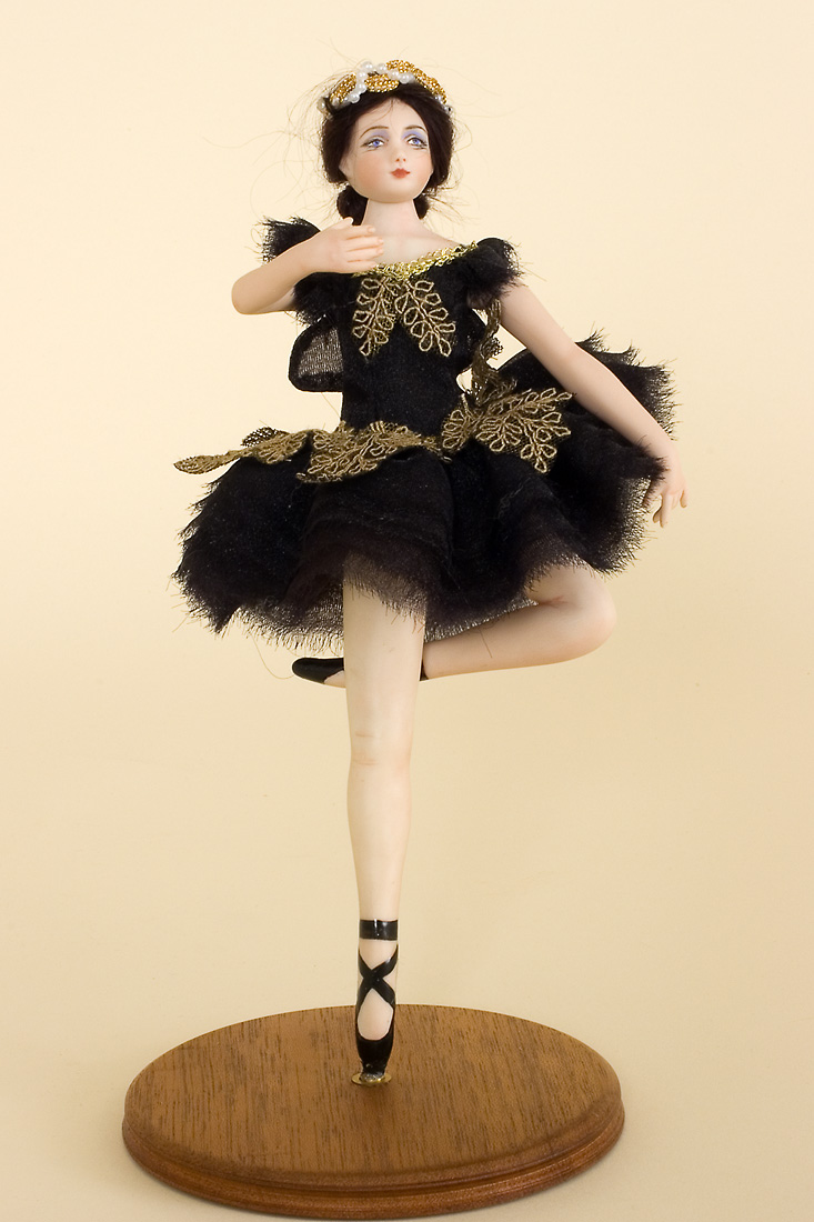 Miniature Ballerina No 1 Porcelain One Of A Kind Art