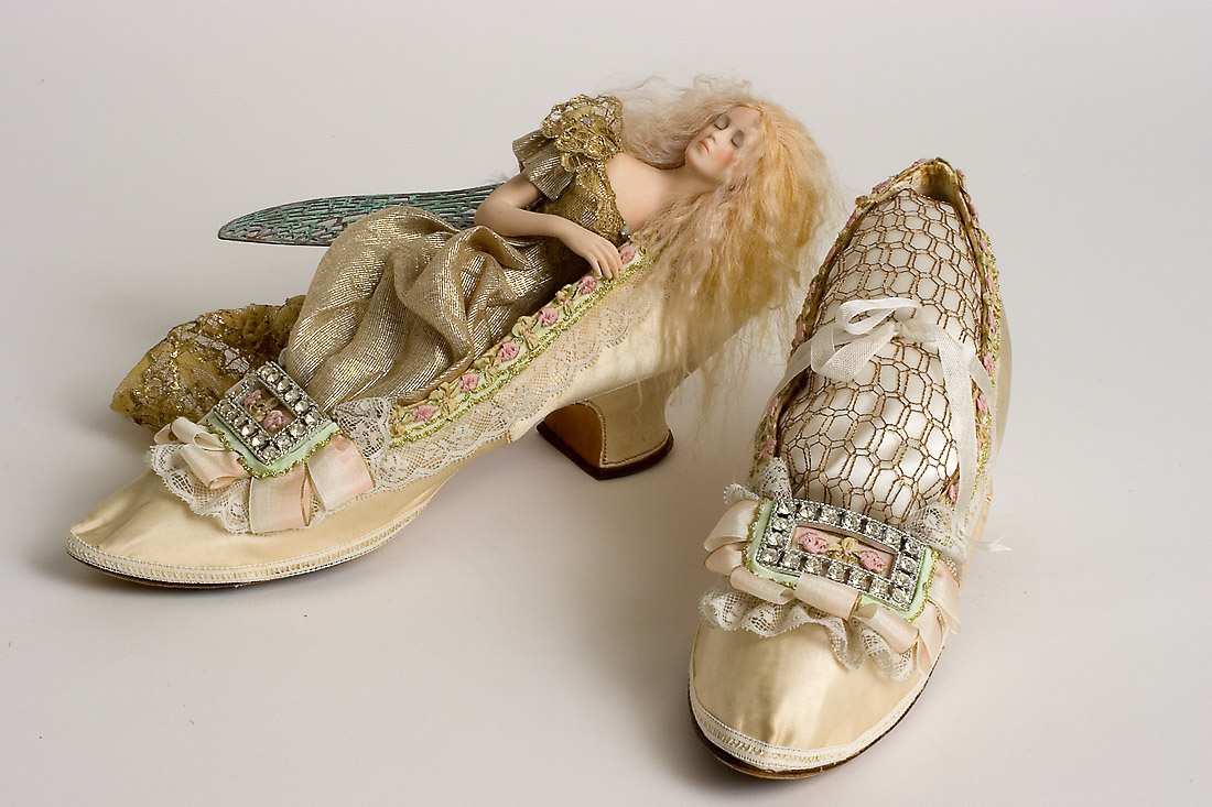 Shoe Fairy 12 Mixed One Of A Kind Art Doll By Susan