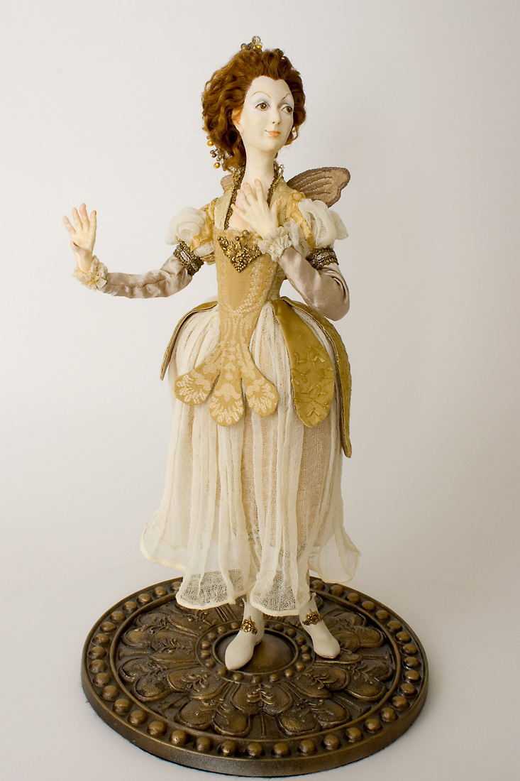 Queen Of The Golden Butterflie Polymer Clay One Of A
