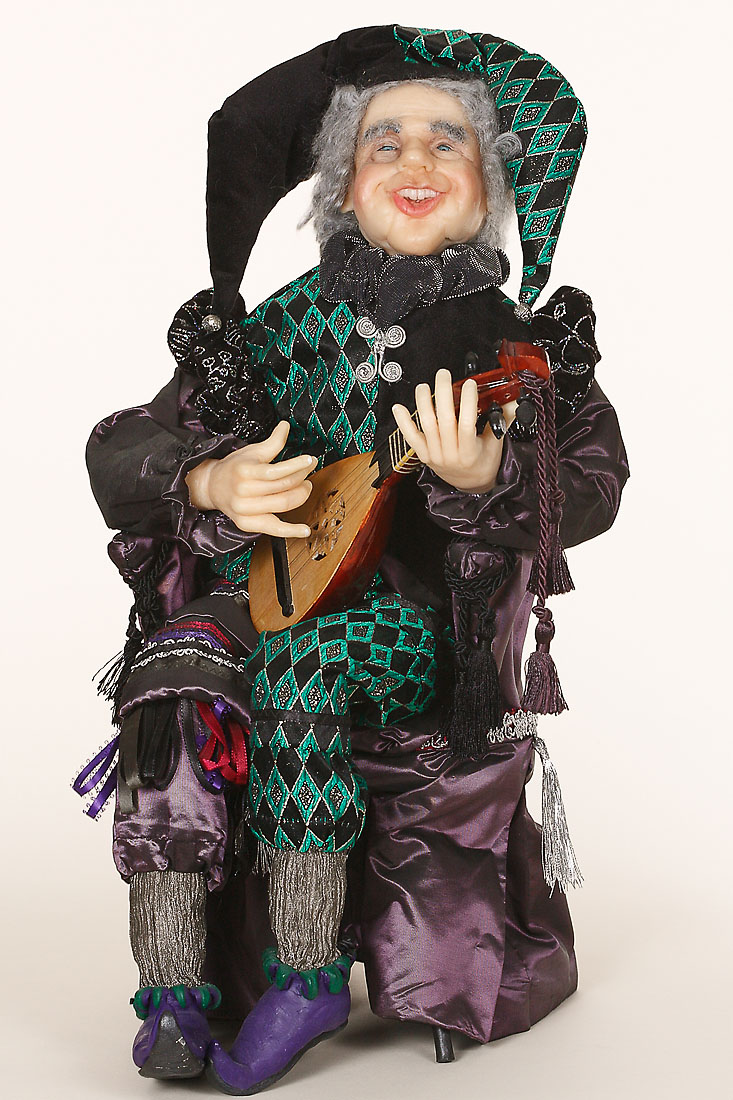 Court Jester 1K Polymer Clay One Of A Kind Art Doll By