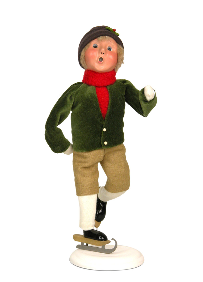 Boy Skating Caroler Figurine By Byers Choice Ltd