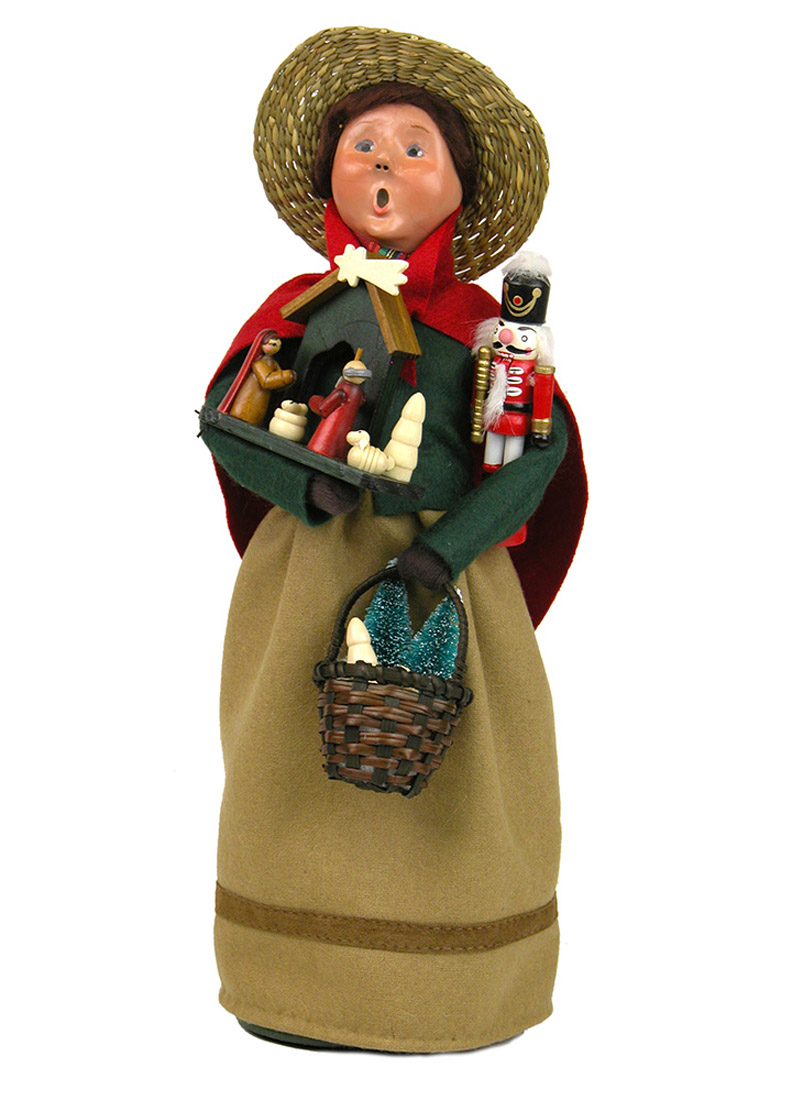 Christmas Market Shopper Caroler Figurine By Byers