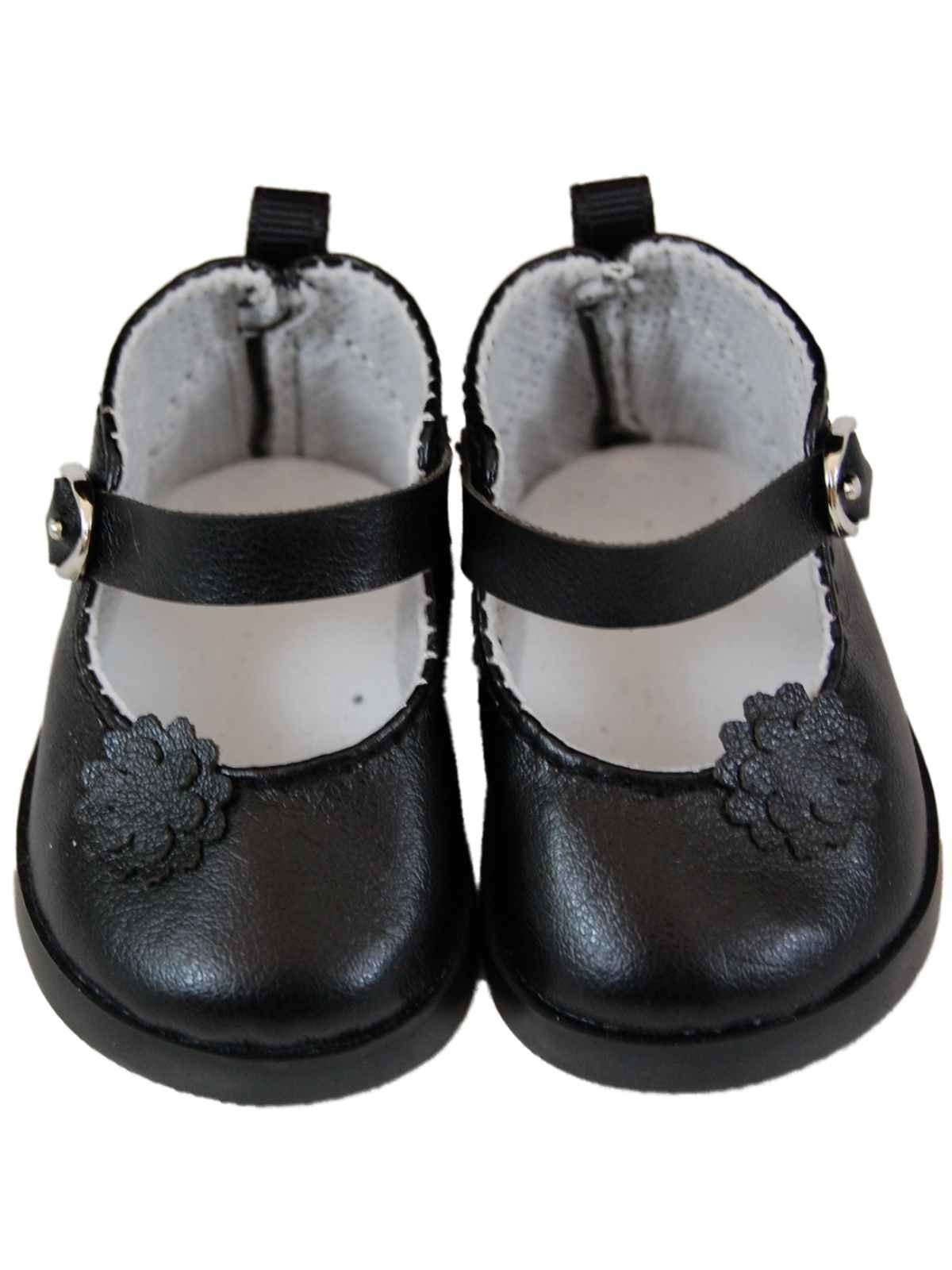 """Black Mary Jane Dress Shoes For 18"""" American Girl¨ Doll Clothes"""