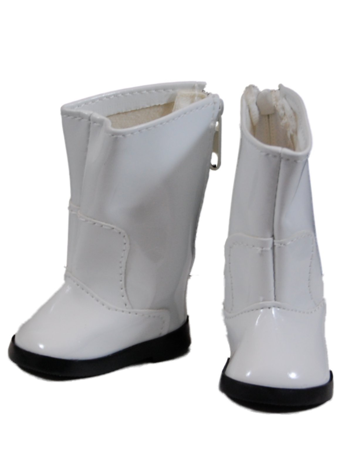 """White Go Go Boots Shoes For 18"""" American Girl¨ Doll Clothes"""