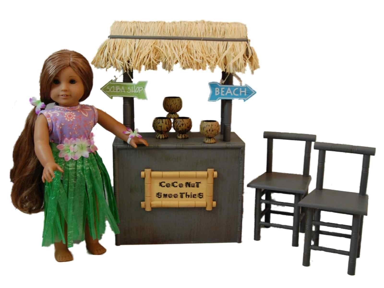 Coconut Smoothie Shaved Ice Stand Furniture Accessories For 18 American Girl Dolls