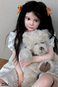 """Mid view of """"My Sweetie"""" cernit art doll by Elisa Gallea"""