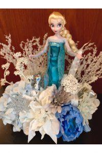 Little Mermaid doll floral arrangement
