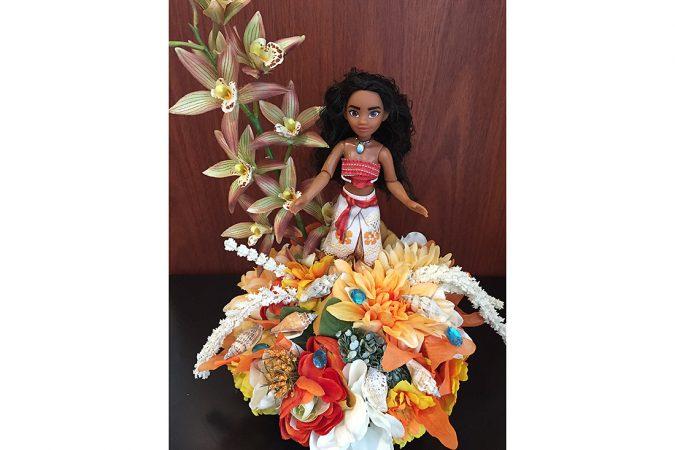 Photo of arrangement featuring Disney's Moana character.