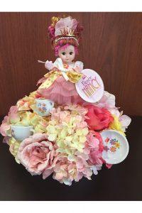 Photo of Fancy Nancy doll decor arrangement by Emily Rehn.