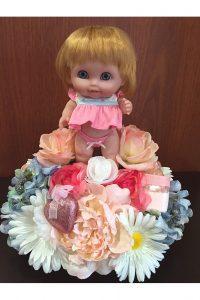 Photo floral doll decor arrangement by Whimsical Way Decor