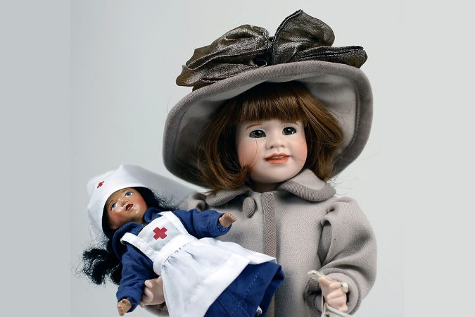 Image of Wendy Lawton doll Nola with nurse doll.