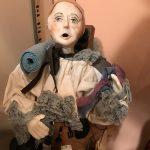 Photo of French santon peddler figure.