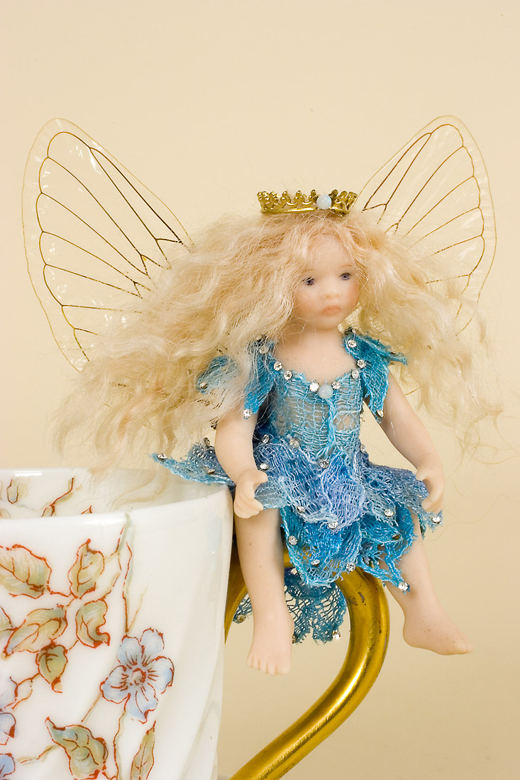 Demitasse Fairy Df 06 Porcelain One Of A Kind Art Doll