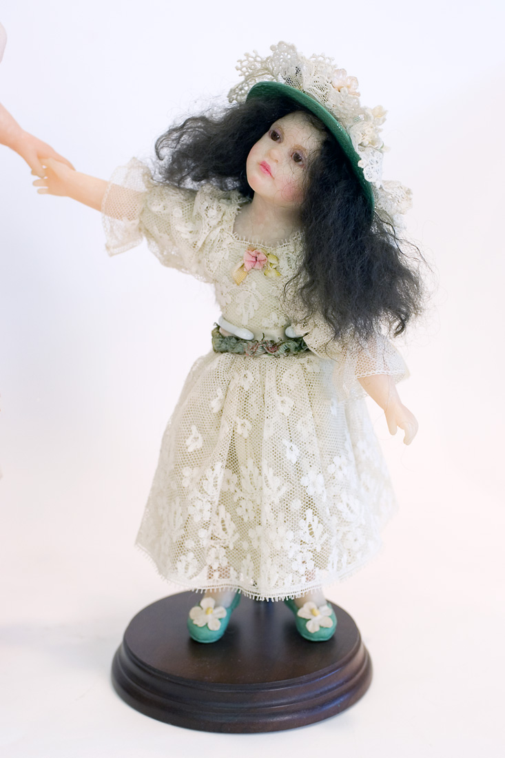 Sisters Polymer Clay One Of A Kind Art Doll By Edna Dali