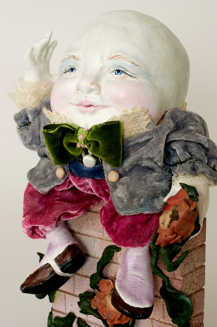 Humpty Dumpty Polymer Clay One Of A Kind Art Doll By