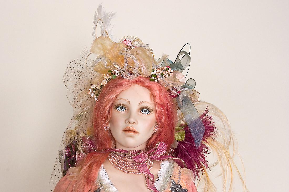 Rabbit Queen Porcelain Soft Body Art Doll By Cindy Koch
