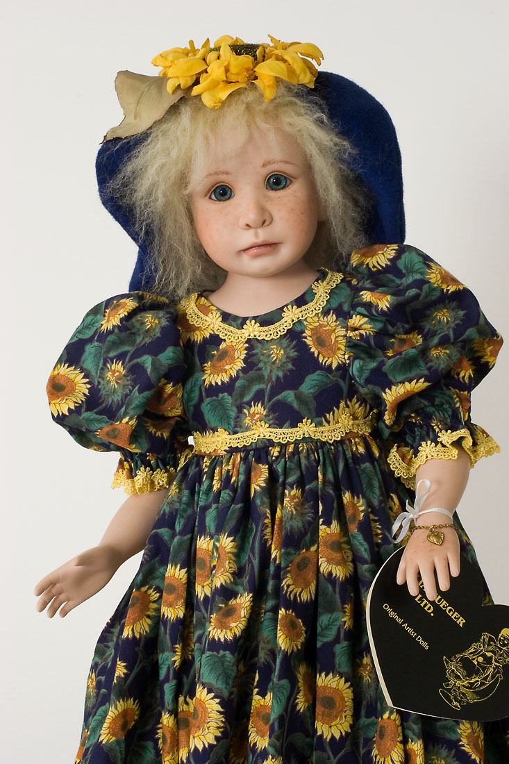 Sommer - porcelain soft body limited edition art doll by ...