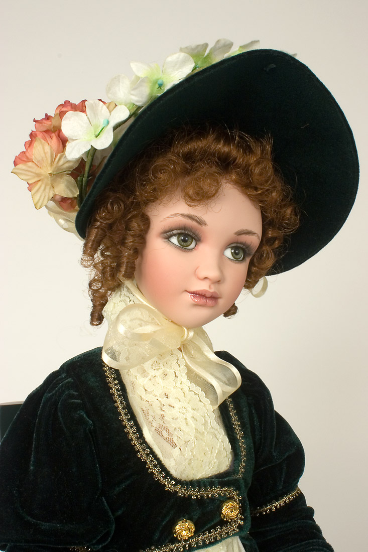 Elinor - Porcelain soft body Collectible Doll