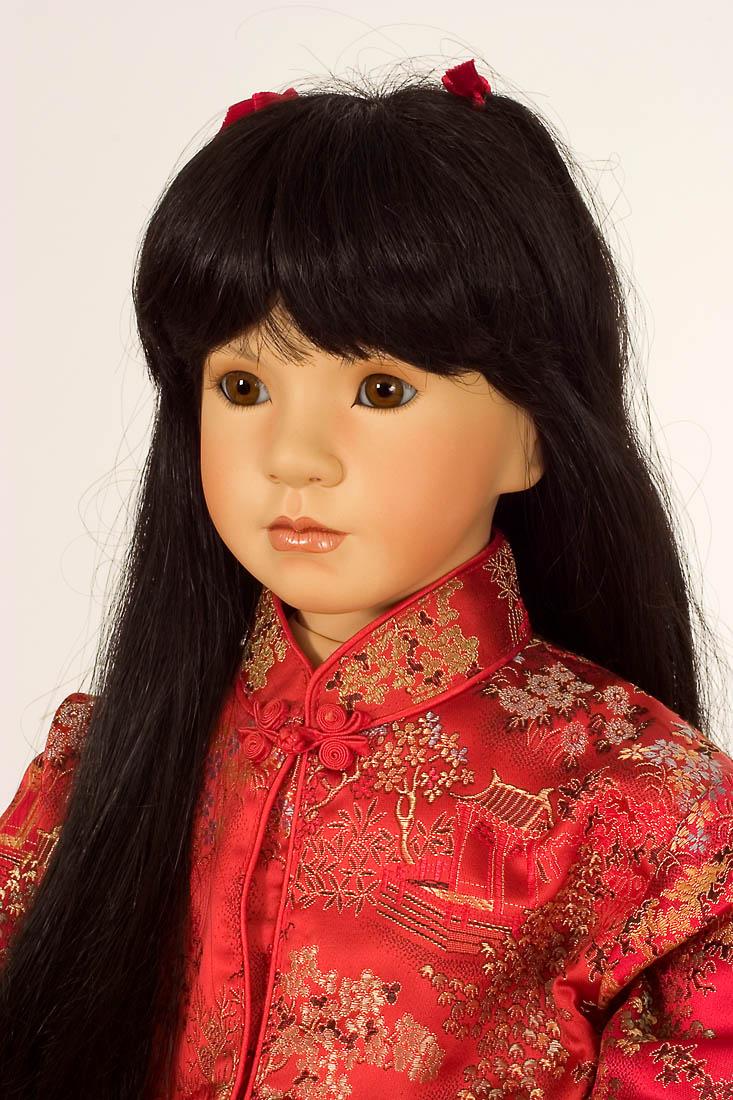 Lei Porcelain Soft Body Art Doll By Linda Mason
