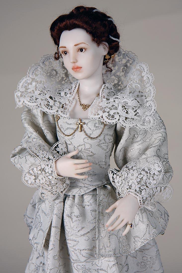 Contessa Elena Polymer Clay One Of A Kind Art Doll By