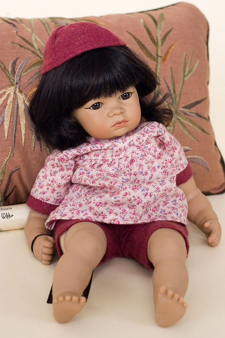 Asian Baby Girl Vinyl Soft Body Limited Edition Art Doll