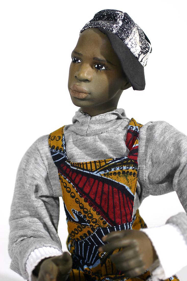 Black Boy No 3 Porcelain One Of A Kind Finished Art Doll
