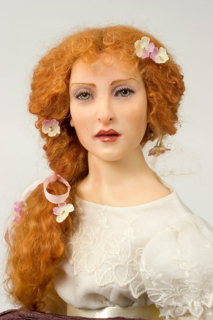 Miss Woodruff - polymer clay one of a kind art doll by ...