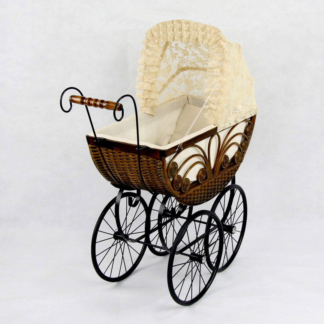Caroline Wicker Doll Pram