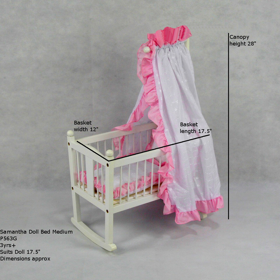 doll accessories    doll carriages  strollers  carriers    samantha doll bed