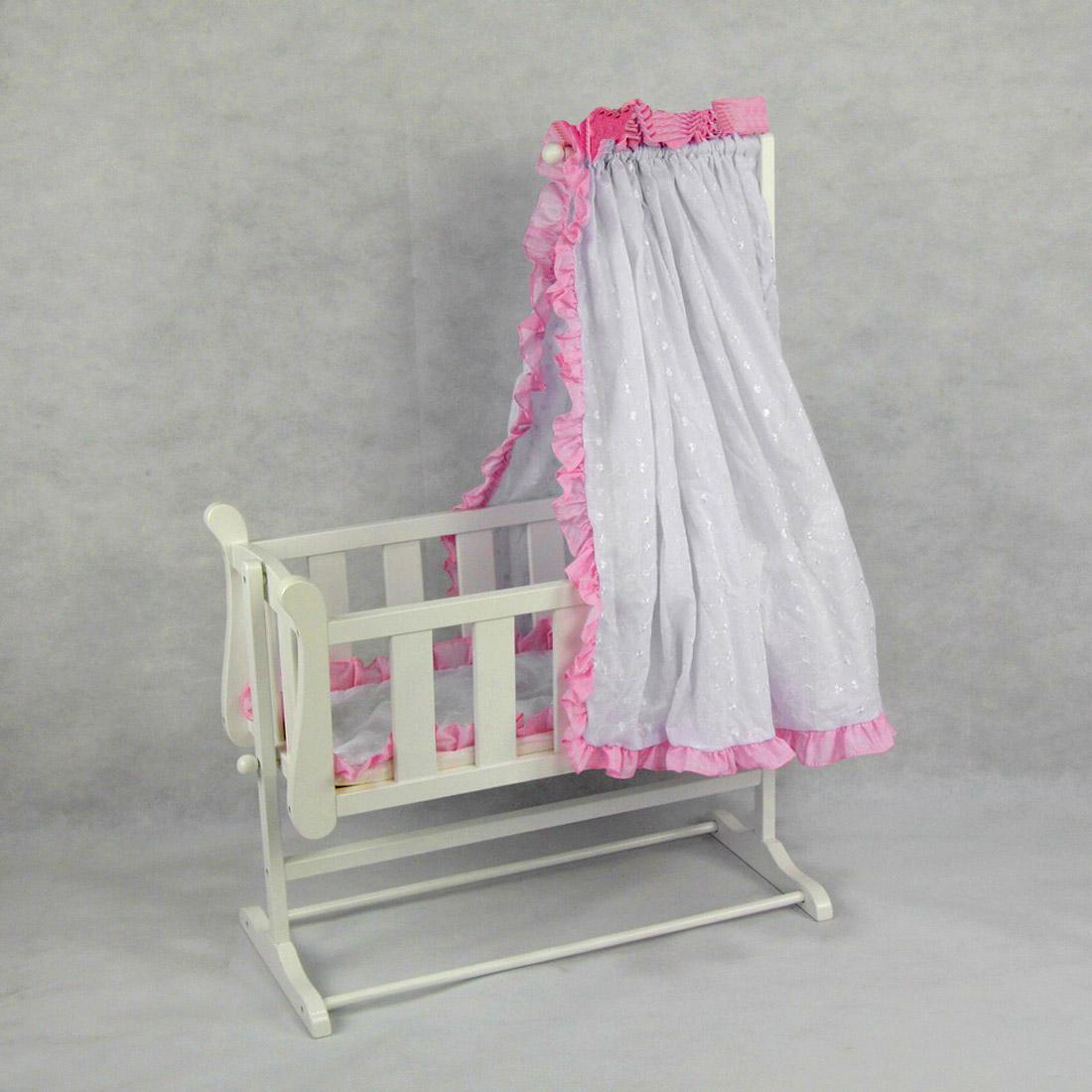 Stephanie Wood Doll Bed