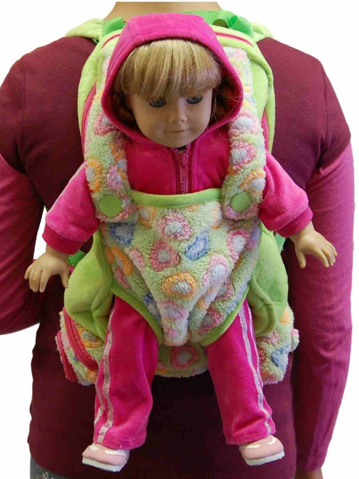 Childs Backpack Includes 18 Quot Doll Carrier And Sleeping Bag