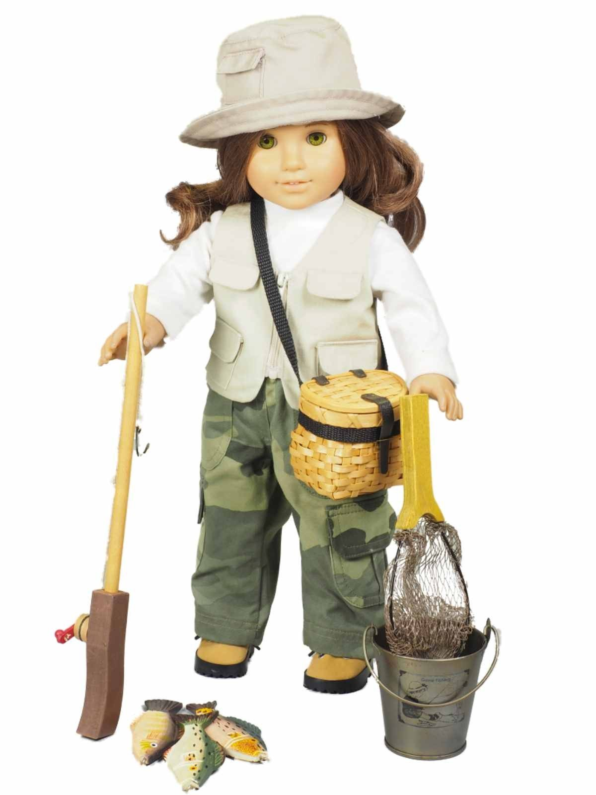 Clothes Accessories: Great Outdoors Fishing Adventure Doll Clothes And