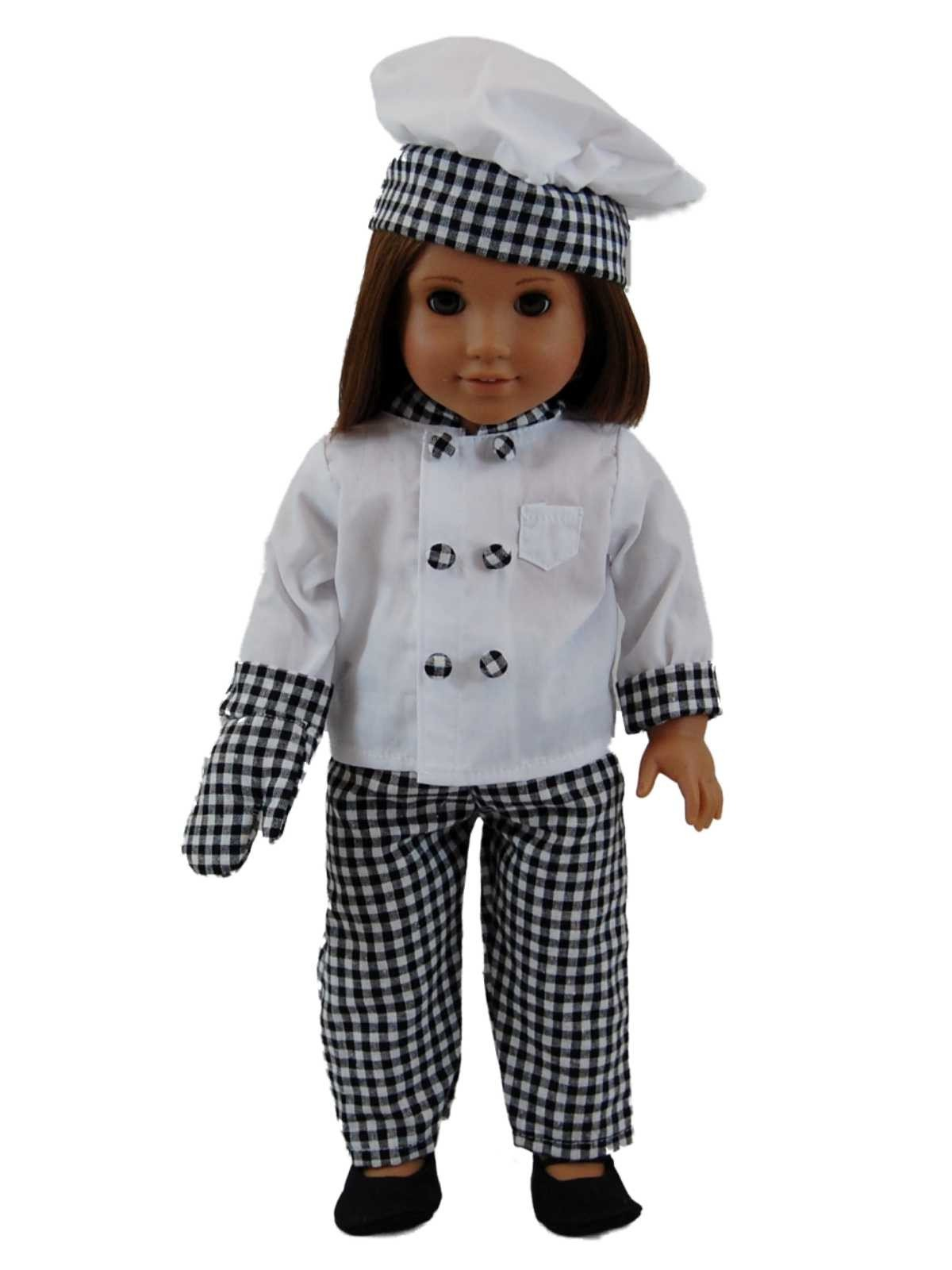 Chef Outfit & 11 Piece Kitchen Tool Set Fits American Girl¨ Dolls