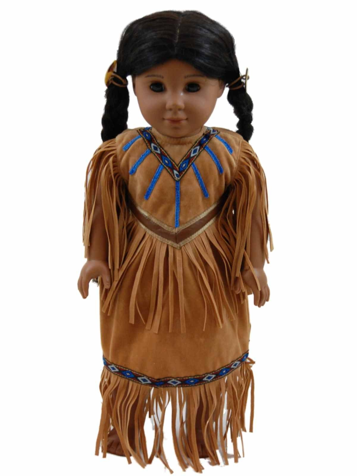 Native American Outfit For 18 Dolls  American Girl-7568