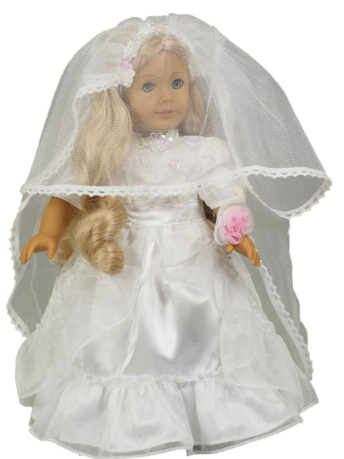 Wedding Communion Gown Fits American Girl 168 Doll Clothes