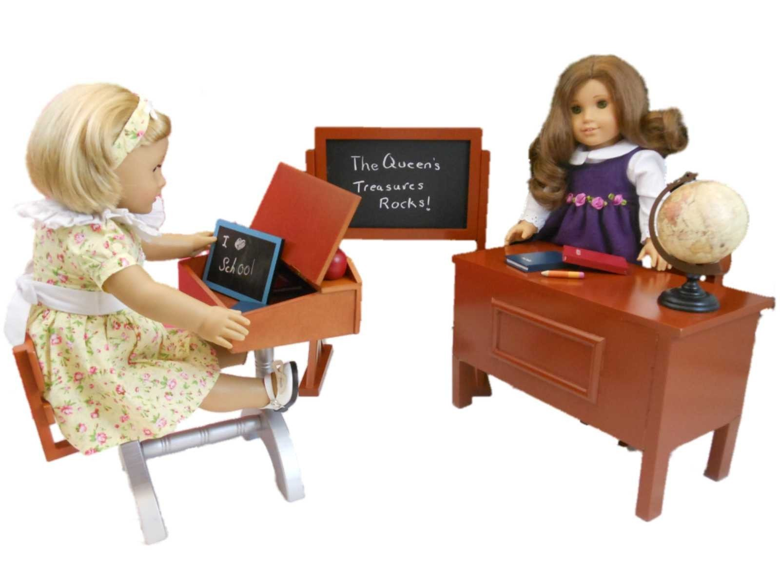 1930 Style School Desk Furniture Accessories For 18 Dolls American Girl Doll