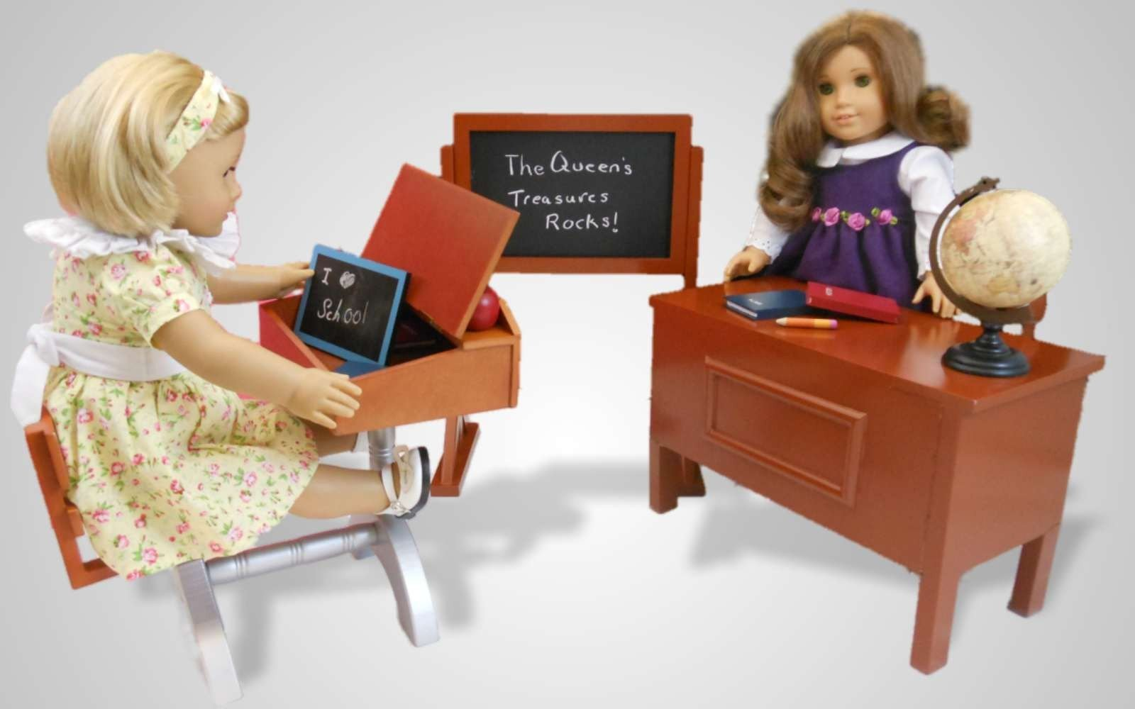 School Teacher Desk And Play Set For 18 American Girl Dolls Fits 18 Doll Furniture Accessories