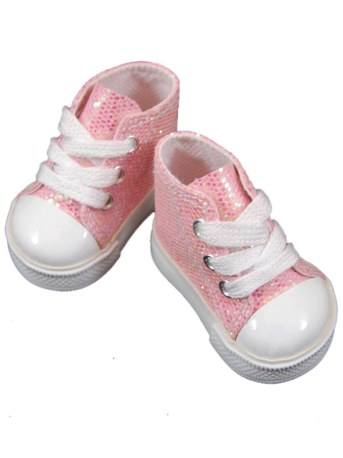 "American Made Furniture >> Pink High Top Sneakers Shoes For 18"" American Girl¨ Doll Clothes"