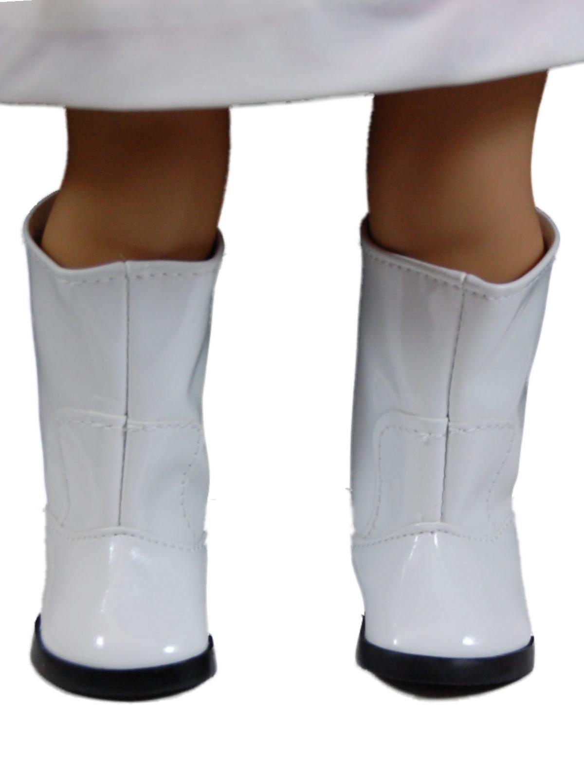 ffda3d17da63c White Go Go Boots Shoes Fit 18