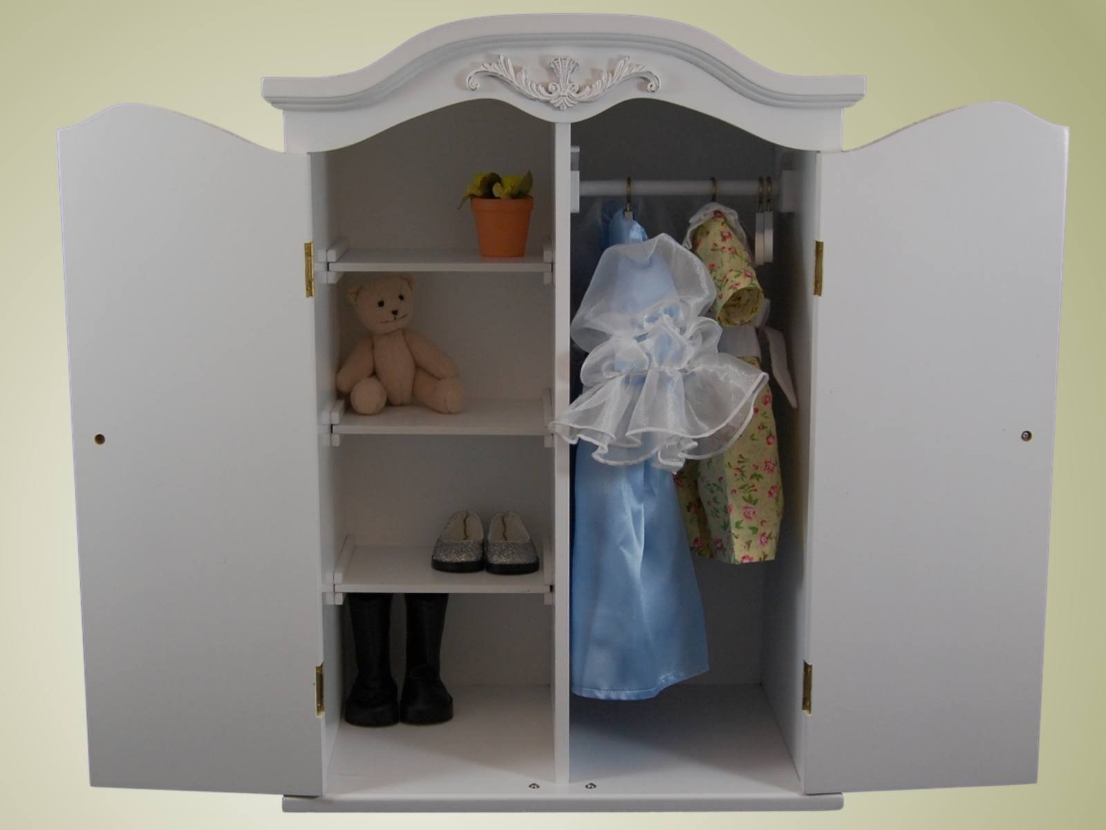 ... Victorian Collection Wardrobe Armoire For 18in Dolls Like American Girl  ...