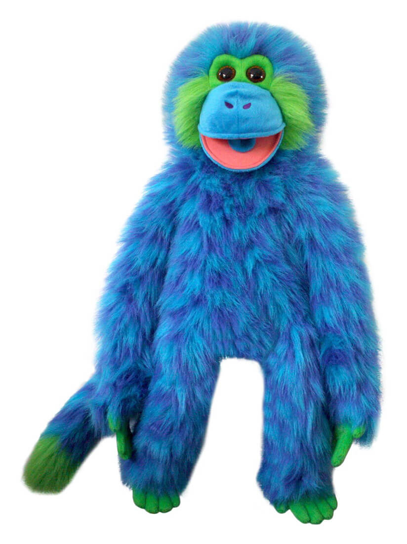 Colorful Monkey Puppet Blue