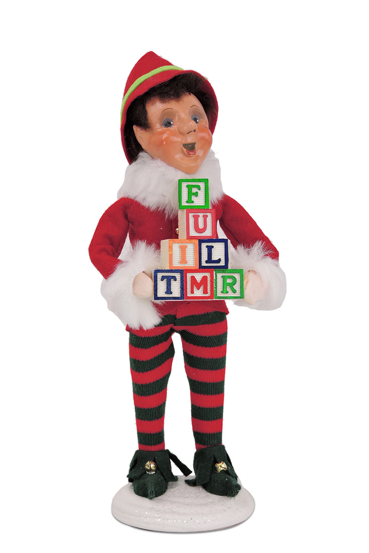 Figurines :: Christmas Elf Bing with Blocks